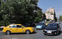 Taxis in Athens