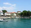 The small port and castle in Nafpaktos Town