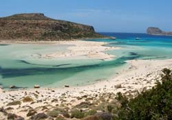 Ballos beach in Chania Prefecture