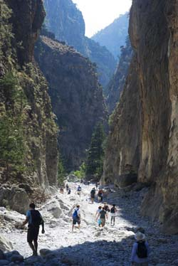 The famous Samaria Gorge in Chania