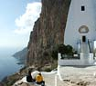 Breathtaking view from the monastery in Amorgos