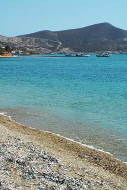 Lovely beach in Antiparos island