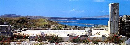 Delos historical sites
