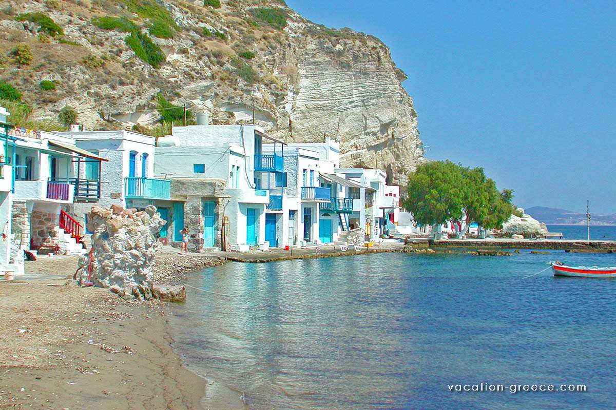 Klima in Milos island in Cyclades, Greece