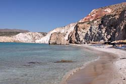 Milos beaches - Firiplaka beach