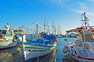 Small port with caiques in Agia Anna