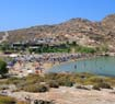 Paros beach during high season