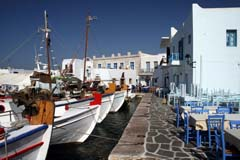 The picturesque port of Naoussa in Paros