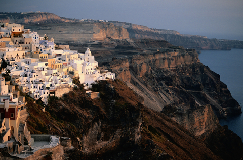 Santorini island - View of the caldera of Fira
