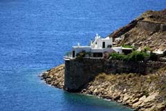 House at the edge of the cliff in Serifos island