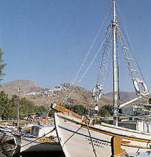 Fishing boats in Serifos small port