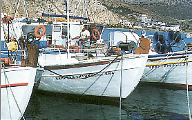 Small fishing boats in Sifnos