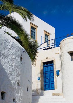 Charming alleys in the Dodecanese islands