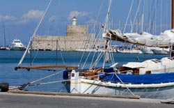 The capital of Rhodes island in the Dodecanese