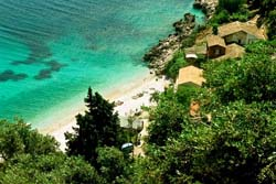 Corfu island wonderful beach