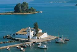 Pontikonissi, the famous islet of Corfu