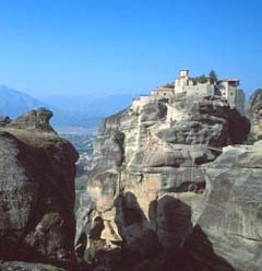 Meteora rock formations in Thessaly