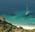 Ionian islands on a sailing boat