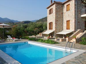 Wide selection of hotels and villas in Peloponnese